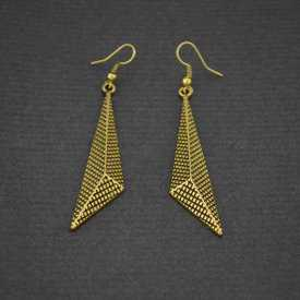 """Boucles d'oreilles fantaisie """"Gold"""" en métal doré"""