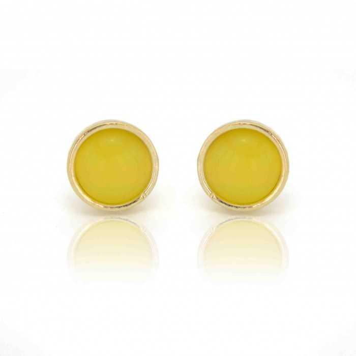"""Boucles d'oreilles """"Ikita - Glask"""" en métal et verre"""