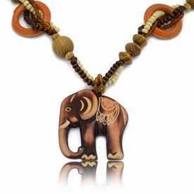 """Collier """"Wood - Eléphant"""" en bois"""