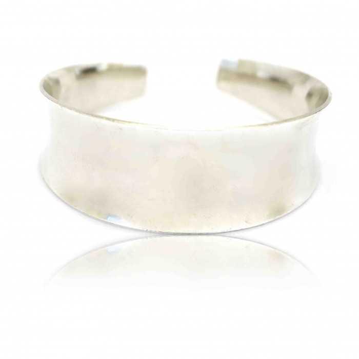 """Bracelet-manchette """"Miroir"""" en métal argenté"""