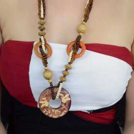 "Collier ""Wood - Rond"" en bois"