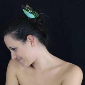 """Épingle à cheveux """"Papillon des Rêves"""" en tissu"""