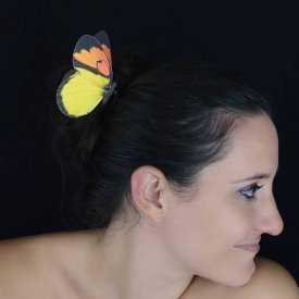 """Épingle à cheveux """"Papillon de Couleur"""" en tissu"""