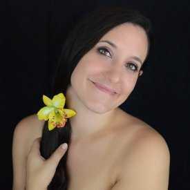 """Élastique """"Orchidée de Thaïlande"""" en tissu"""
