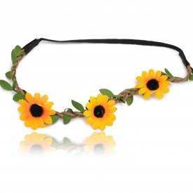 "Headband élastiqué ""Woodstock"" en tissu"