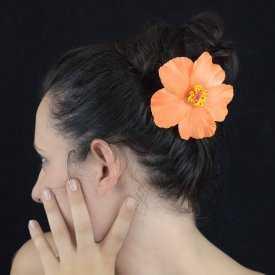 """Mini pince à cheveux """"Hibiscus"""" en polymère"""