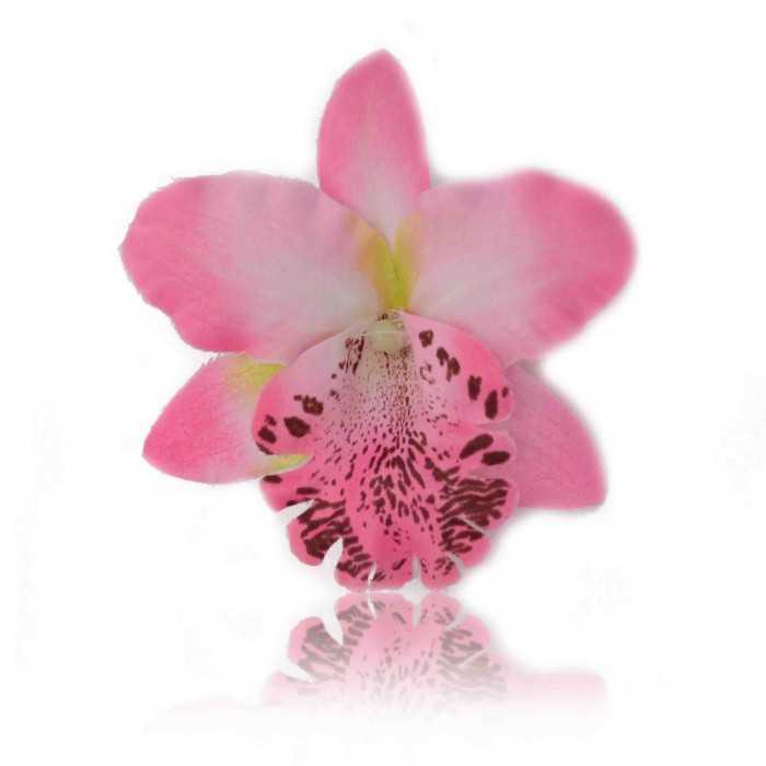 """Mini pince à cheveux """"Orchidée de Thaïlande"""" en tissu"""
