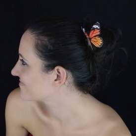 """Épingle à cheveux """"Papillon des Champs"""" en papier"""