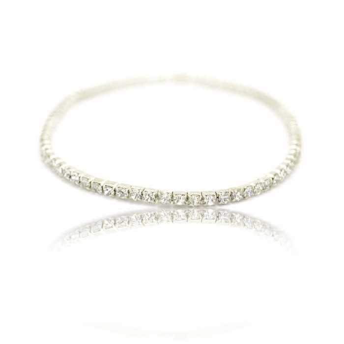 bracelet cheville strass