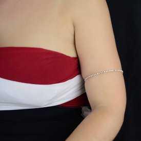 """Bracelet de cheville """"Bright"""" en métal et strass"""