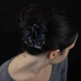 "Pince à cheveux ""Rose"" en tissu"