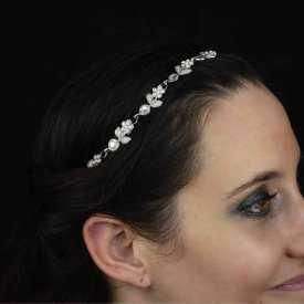 """Headband """"Sylphe"""" en métal doré et strass"""