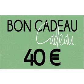Bon cadeaux - 40 €