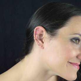"""Boucles d'oreilles """"Wire"""" en métal argenté"""