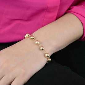 """Bracelet """"Boles"""" en métal doré"""