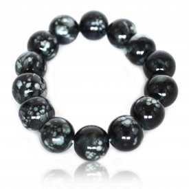 """Bracelet """"Hells"""" en perles de résine"""