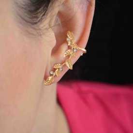 """Boucles d'oreilles fantaisie """"Glorious"""" en métal et strass"""