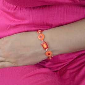 """Bracelet """"Ikita - Kindergarten"""" en métal argenté peint"""