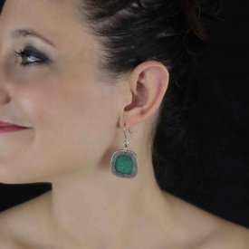 """Boucles d'oreilles """"Pure by Noa - Jewel"""" en métal argenté et résine"""