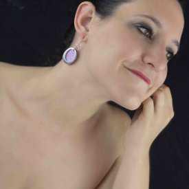 """Boucles d'oreilles """"Pure by Noa - Naomie"""" en métal argenté et résine"""