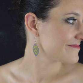 """Boucles d'oreilles """"Pure by Noa - Liv"""" en métal argenté et résine"""