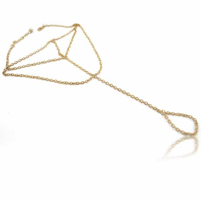 """Bracelet de cheville """"Holidays"""" en métal doré"""