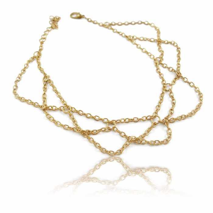 """Bracelet de cheville """"Realis"""" en métal doré"""