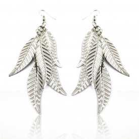 "Boucles d'oreilles ""Light Metal - Leaf"" en métal"