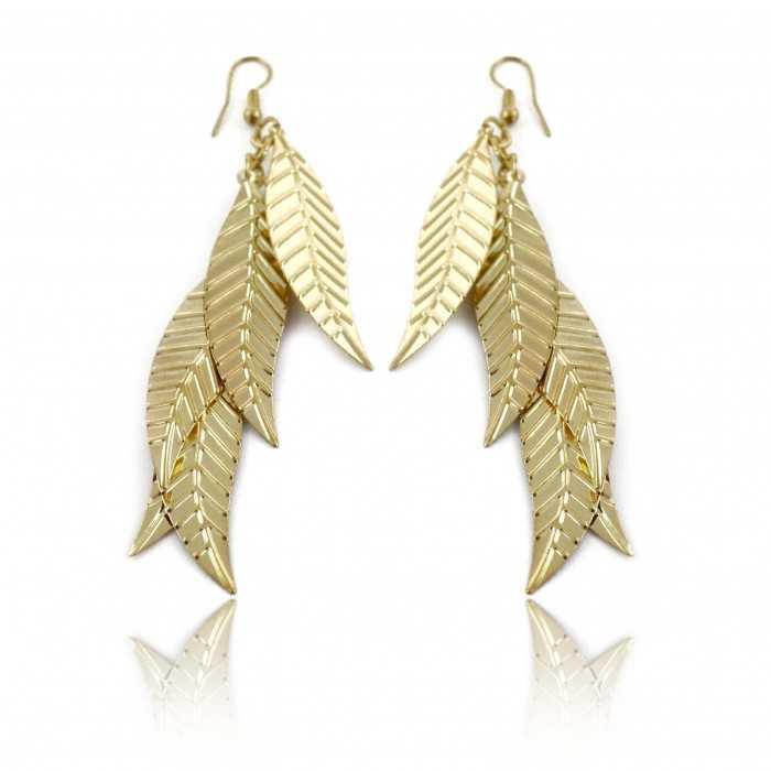 """Boucles d'oreilles """"Light Metal - Leaf"""" en métal"""