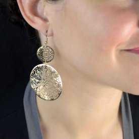 "Boucles d'oreilles ""Light Metal - Mandala"" en métal"