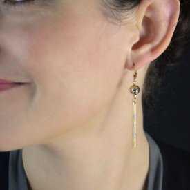 """Boucles d'oreilles """"Toutânkhamon"""" en métal doré"""