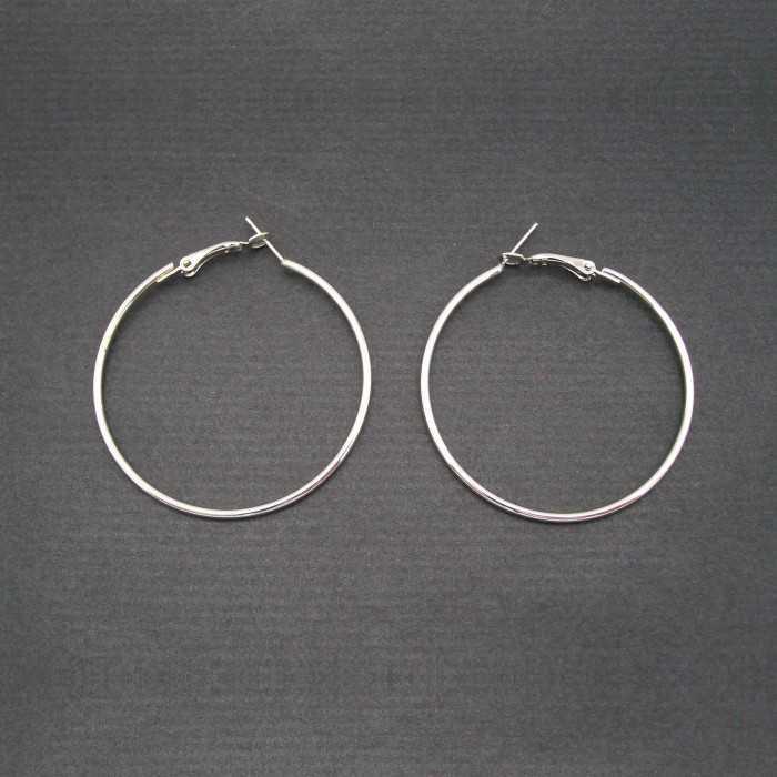 Créoles 6 cm en métal argenté    Les Bijoux de Camille, bijoux fantaisie pas cher