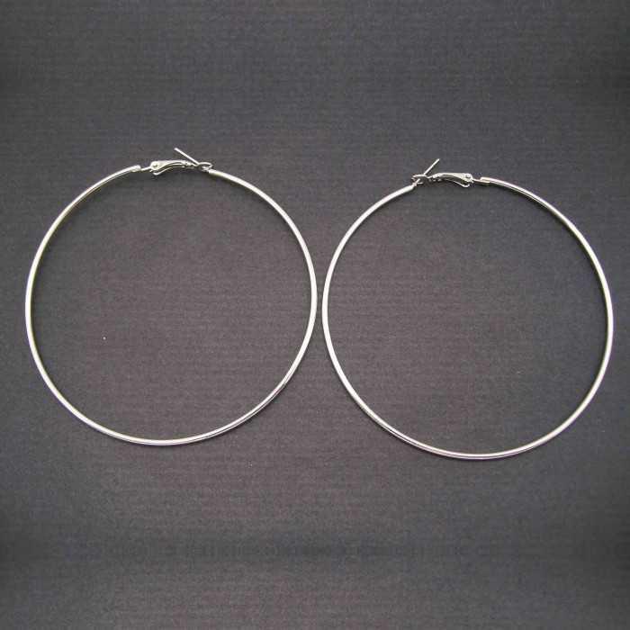 Créoles 9 cm en métal argenté | Les Bijoux de Camille, bijoux fantaisie pas cher