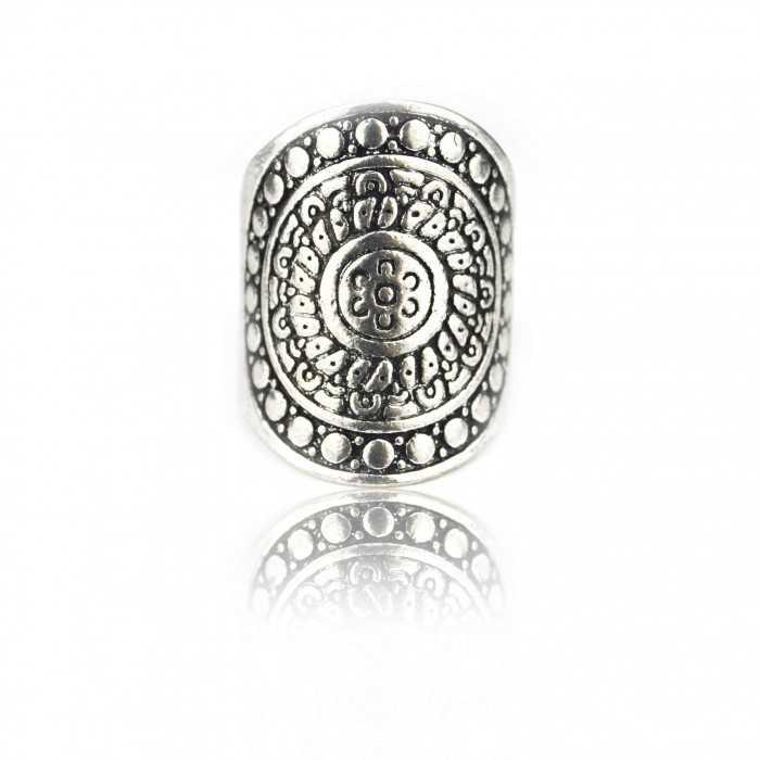 """Bague """"Tribal Style - White Silver"""" en métal argenté"""