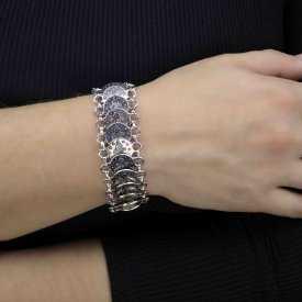 """Bracelet """"Tribal Style - Rachel"""" en métal argenté"""
