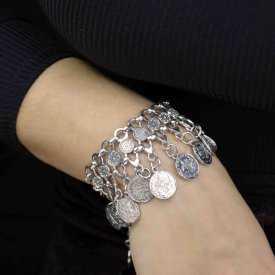 """Bracelet """"Tribal Style - Sharon"""" en métal argenté"""