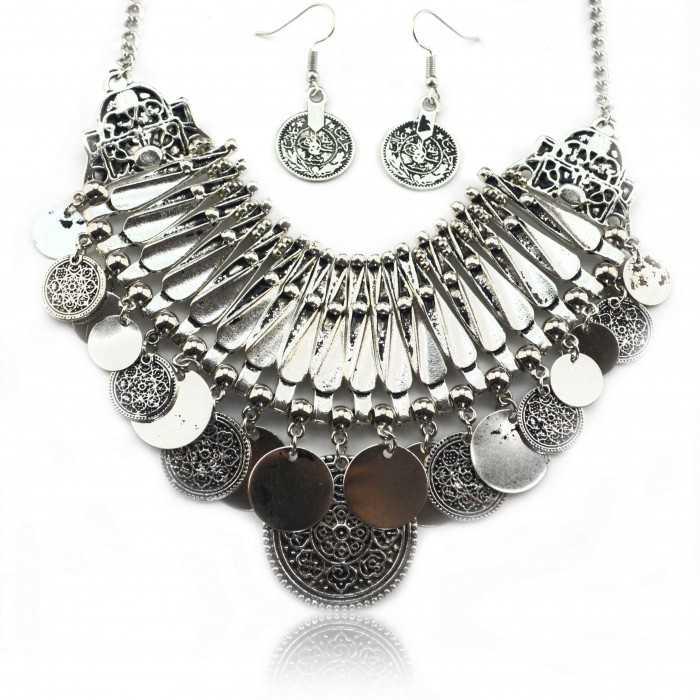 "Parure ""Tribal Style - Erato"" en métal vieilli"