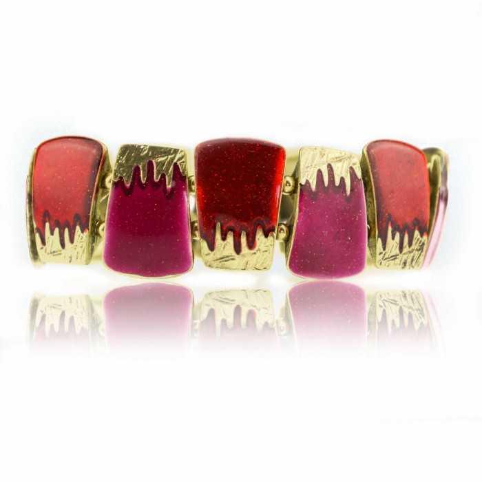 """Bracelet """"Ikita - Gelly"""" en métal doré et émail"""
