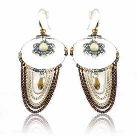"""Boucles d'oreilles """"Ikita - Alicia"""" en métal argenté et strass"""