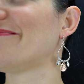 "Boucles d'oreilles ""Ikita - Seconds"" en métal"