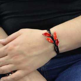 """Bracelet """"Ikita - Andromède"""" en métal peint et émail pailleté"""