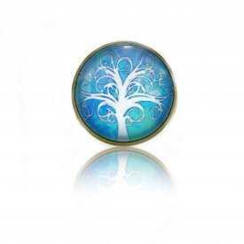 """Bague """"Sweet nature - Tree"""" en métal bronze et cabochon de verre"""