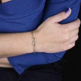 "Bracelet fantaisie ""Mini Infinity"" en métal"