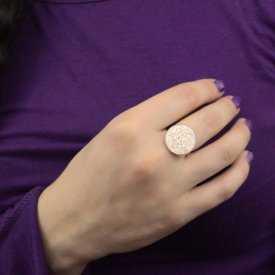 """Parure """"Glitter - Granit"""" en métal doré vieilli - Blanc"""