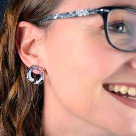 """Boucles d'oreilles """"Ikita - Maëlstrom"""" en métal"""
