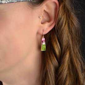 "Boucles d'oreilles ""Ikita - Kheops"" en métal doré"