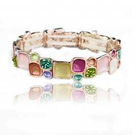 "Bracelet ""Ikita - Pavé"" en métal doré"