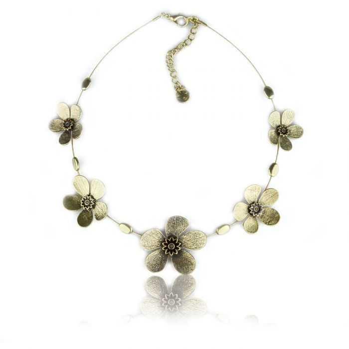 """Collier """"Ikita - Fleur métallisée"""" en métal"""