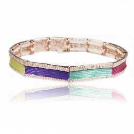 "Bracelet ""Ikita - Roads"" en métal doré"