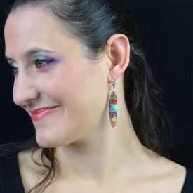 """Boucles d'oreilles """"Liz'Créations - Bambou"""" en argile polymère"""